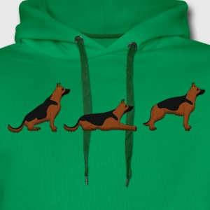 sit down stay german shepherd T-shirts - Mannen Premium hoodie