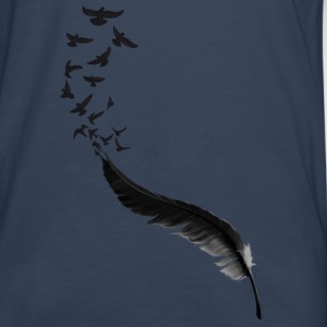 Feather Birds Tee shirts - T-shirt manches longues Premium Homme