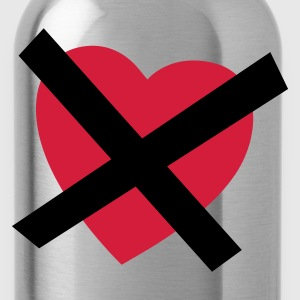 Zwart Crossed our Heart - No Love - No Heart T-shirts - Drinkfles