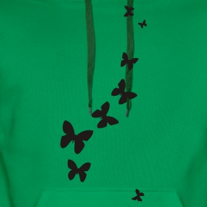 Grass green butterflies T-Shirts - Men's Premium Hoodie