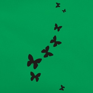 Grass green butterflies T-Shirts - Retro Bag