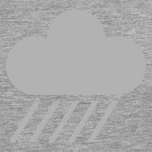 Ash weather symbol - cloud & rain T-Shirts - Men's Premium Longsleeve Shirt