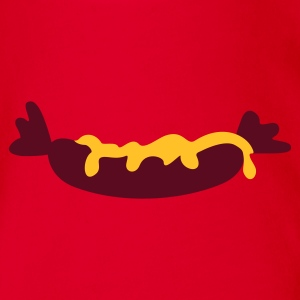 Red Wurst mit Senf / sausage with mustard (2c) Kid's Shirts  - Organic Short-sleeved Baby Bodysuit