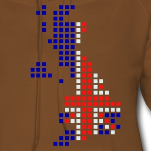 Geel UK - Great Britain flag pixel map Heren t-shirts - Vrouwen Premium hoodie