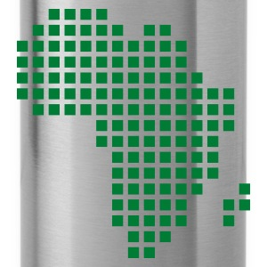 Verde kelly Africa pixel map Donna - Borraccia