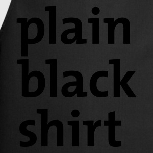 Black plain black shirt Ladies' - Cooking Apron