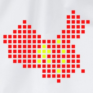 Vit China flag pixel map Damtröja - Gymnastikpåse