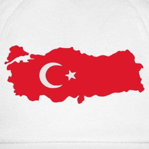 Ash turkey flag map T-Shirts - Baseball Cap