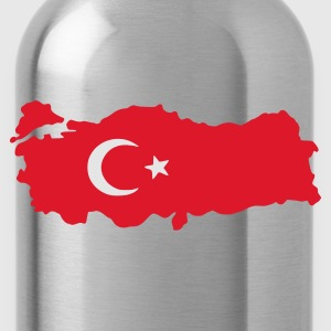 Ash turkey flag map T-Shirts - Water Bottle
