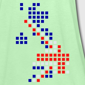 Pullonvihreä UK - Great Britain flag pixel map T-Paidat - Naisten tankkitoppi Bellalta