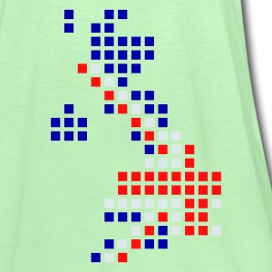 Flaskegrøn UK - Great Britain flag pixel map T-Shirts - Dame tanktop fra Bella