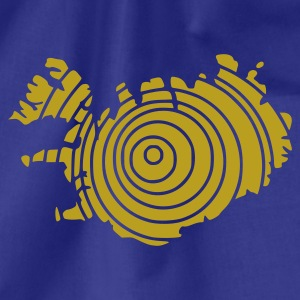 Sky Iceland Island Flag map Men's Tees (short-sleeved) - Drawstring Bag