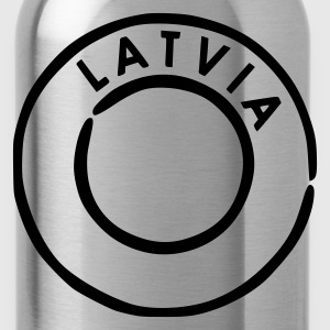 Sky Latvia - Latvija Postmark Kid's Shirts  - Water Bottle