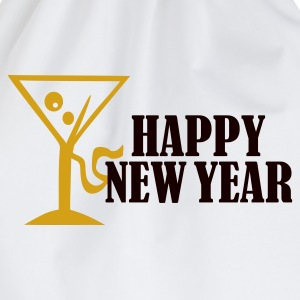 White Happy New Year Women's Tees (short sleeved) - Drawstring Bag