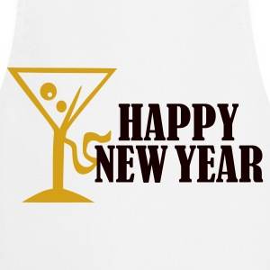 White Happy New Year Women's Tees (short sleeved) - Cooking Apron