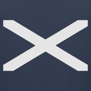 Navy Scotland Stripes T-Shirts (Kurzarm) - Männer Premium Tank Top