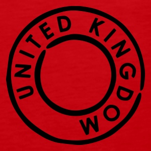 Mørkerød UK - United Kingdom T-shirts - Herre Premium tanktop