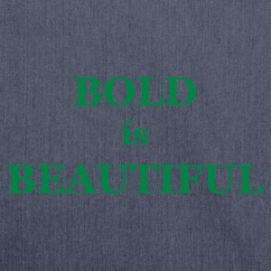 Dark navy Bold is Beautiful Men's Tees (short-sleeved) - Shoulder Bag made from recycled material