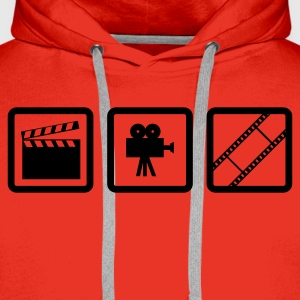 Rot Hollywood Gear T-Shirts (Kurzarm) - Männer Premium Hoodie