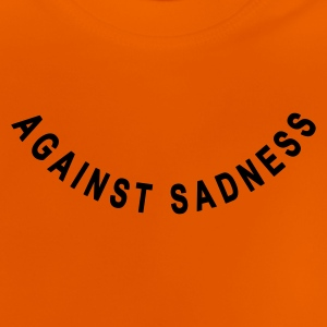 against sadness (smiley) - T-shirt Bébé