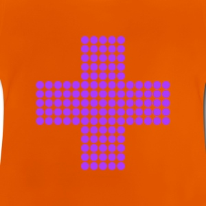 Gul retro - pixel - cross Barn-T-shirts - Baby-T-shirt