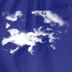 Royal blue Summer Clouds  Men's Tees - Drawstring Bag
