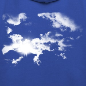 Royal blue Summer Clouds  Men's Tees - Kids' Premium Hoodie