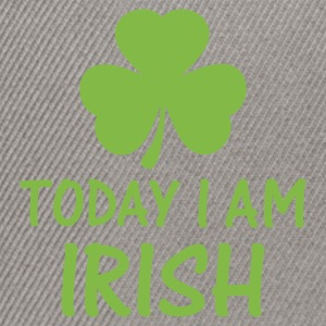 Grasgrün today i am irish T-Shirts - Snapback Cap