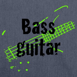 Dark navy bass_guitar T-Shirts - Schultertasche aus Recycling-Material
