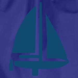 Royalblau Boot - Segeln T-Shirts - Turnbeutel