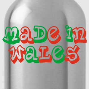Made in Wales Ladies T-Shirt Black - Water Bottle