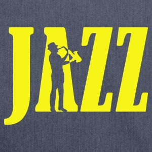 Navy jazz_2 T-Shirts - Schultertasche aus Recycling-Material