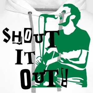 shout_it_out Magliette - Felpa con cappuccio premium da uomo