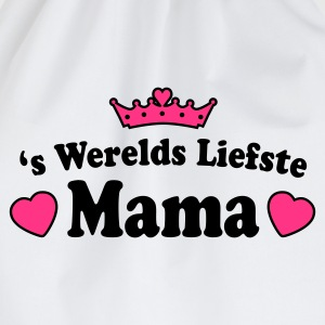 Wit liefste mama T-shirts NL - Gymtas