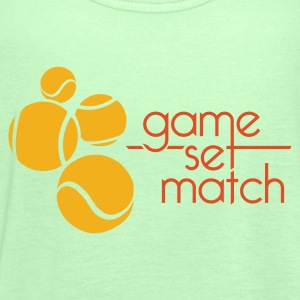 TENIS: GAME, SET, MATCH - Tank top damski Bella