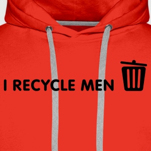 I Recycle Men 1 (1c, NEU) - Sweat-shirt à capuche Premium pour hommes