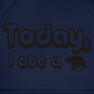 Royal blue Today, I Ate A Bear Men's Tees - Baseball Cap