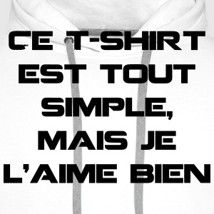 T-shirt simple - Sweat-shirt à capuche Premium pour hommes
