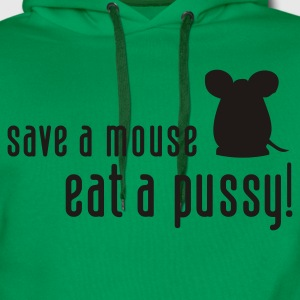 Save a Mouse Eat a  (1c, ENG) - Mannen Premium hoodie