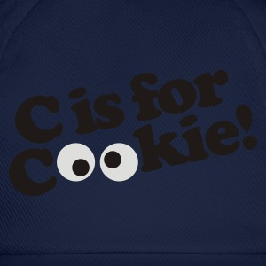 Royal blue C is for Cookie Men's T-Shirts - Baseball Cap