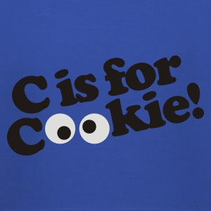 Royal blue C is for Cookie Men's T-Shirts - Kids' Premium Hoodie