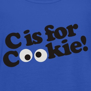 Royal blue C is for Cookie Men's T-Shirts - Women's Tank Top by Bella