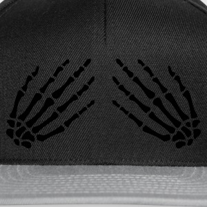 Black Skeleton hands on Women's T-Shirts - Snapback Cap