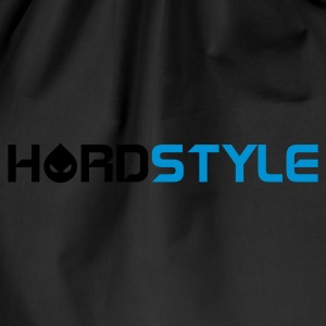 Svart Hardstyle Head Text T-shirts - Gymnastikpåse
