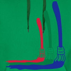 RGB Paint Brushes T-shirts - Premiumluvtröja herr