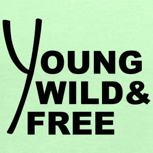 Young Wild And Free Design T-Shirts - Women's Tank Top by Bella