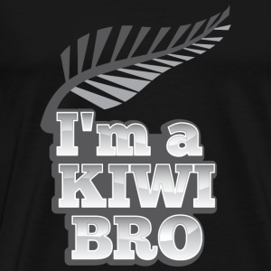 I'm a KIWI BRO with silver fern New Zealand Bags & Backpacks - Men's Premium T-Shirt