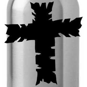 Cross Design T-Shirts - Water Bottle