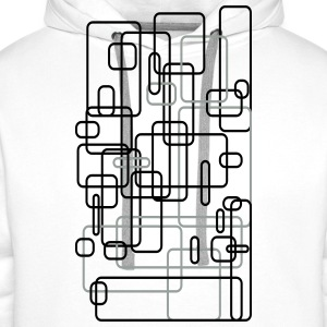 Abstract / rectangle / square / Design / Art 2c T-Shirts - Men's Premium Hoodie