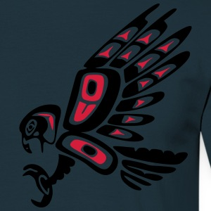 Native american falcon - tribal art symbol, indian Felpe - Maglietta da uomo